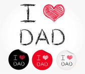 I love dad — Stock Vector