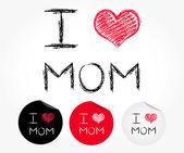 I love mom — Stock Vector