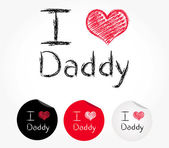 I love Daddy — Stock Vector