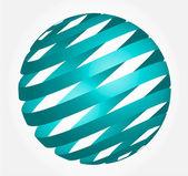 Küre - 3d soyut — Stok Vektör