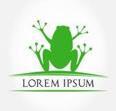 Green frog symbol. vector illustration — Stock Vector