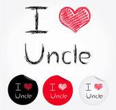 Adoro zio — Vettoriale Stock