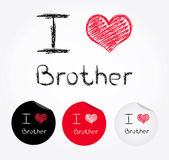 I love brother — Stock Vector