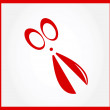 Red scissors icon  — Stock Vector