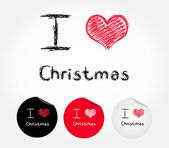 I love Christmas - vector illustration — Stock Vector