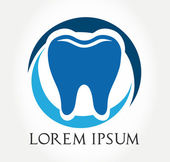 Tooth symbol. vector illustration. — Stock Vector
