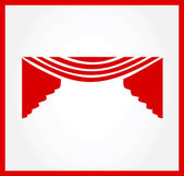 Curtains logo — Stock Vector
