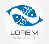 Fish symbol. Vector illustration. — Stock Vector