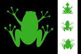 Illustration set of frogs — Stok Vektör