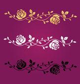 Rose symbol vector — Stock Vector