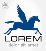 Pegasus symbol. Vector illustration. — Stock Vector