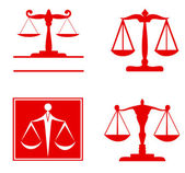 Scale of justice symbol — Stock Vector
