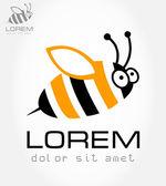 Bee symbol. Vector illustration. — Stock Vector