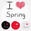 I love spring — Stock Vector