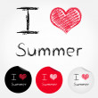 I love summer — Stock Vector #40419669