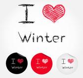 I love winter — Stock Vector