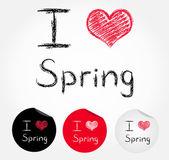 I love spring — Stock Vector