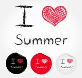 I love summer — Stock Vector