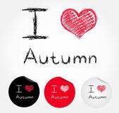 I love autumn — Stock Vector