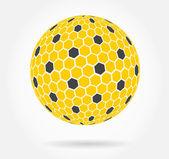 Honeycomb sphere symbol — Stock Vector