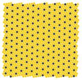 Honingraat - textuur. vector achtergrond. — Stockvector