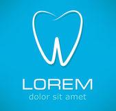 Tooth symbol.  vector illustration — Stock Vector