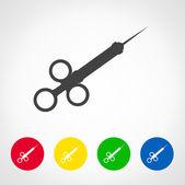 Syringe vector icon — Wektor stockowy