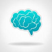 Brains, Silhouette Illustration — Stock Vector