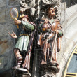 Vanity and Greed from Prague Astronomical Clock — Stockfoto