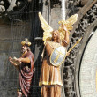 Philosopher and Archangel Michael from Prague Astronomical Clock — Stock Photo