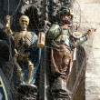 Death and Turk from Prague Astronomical Clock — Stock fotografie