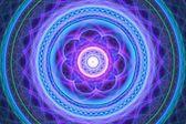 Blue and purple mandala — Photo