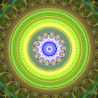 Green mandala — Stock Photo