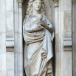 Statue of Mercy from west facade of Westminster Abbey. — Stock Photo