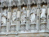 Statues of twentieth century martyrs from Westminster Abbey — Stock Photo