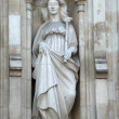 Statue of Justice from west facade of Westminster Abbey. — Stock Photo