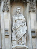 Statue of Manche Masemola from facade of Westminster Abbey — Stock Photo