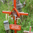 Stock Photo: Crosses from Hill of Crosses
