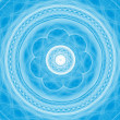 Light blue and white mandala — Stock Photo