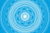 Light blue and white mandala — Стоковое фото