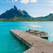 Bora bora deck — Stock Photo