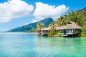 Bungalows in tahiti — Stock Photo