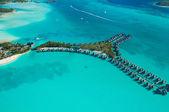Vista del cielo de tahití — Foto de Stock