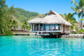 Paradise overwater bungalow — Stock Photo