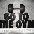 Go to the gym — 图库照片