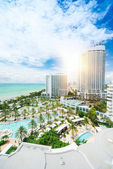 Miami beach top view — Stock Photo