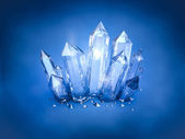 Blue shiny crystals — Foto Stock