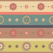 Seamless floral background with stripes — Stock Vector