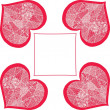 Royalty-Free Stock Vector Image: Patchwork lace heart hand-drawn background