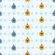 Royalty-Free Stock Vector Image: Cute seamless pattern with snowflakes and christmas tree decorations / New Year theme seamless pattern